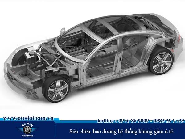 sửa chữa, bảo dưỡng hệ thống khung gầm ô tô