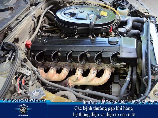 Các bệnh thường gặp khi hỏng hệ thống điện và điện tử của ô tô