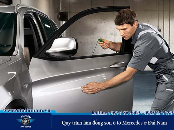 Quy trình làm đồng sơn xe Mercedes ở Đại Nam