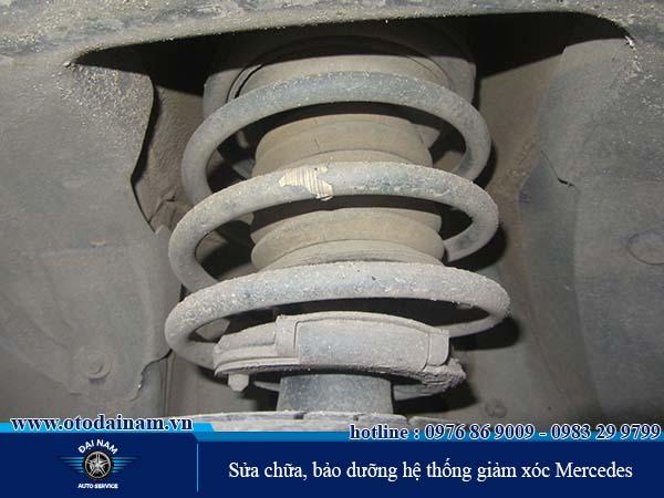 Quy trình sửa chữa bảo dưỡng hệ thống giảm xóc Mercedes