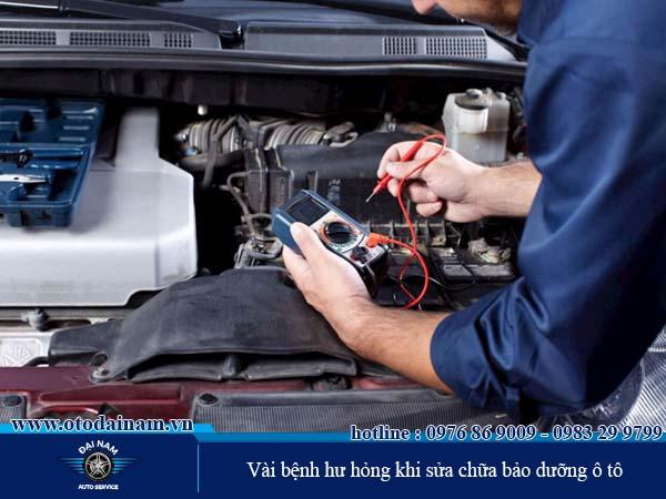 Ban bệnh thường gặp khi sửa chữa ô tô