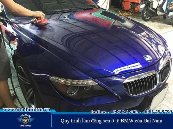 Quy trình làm đồng sơn xe BMW của Đại Nam