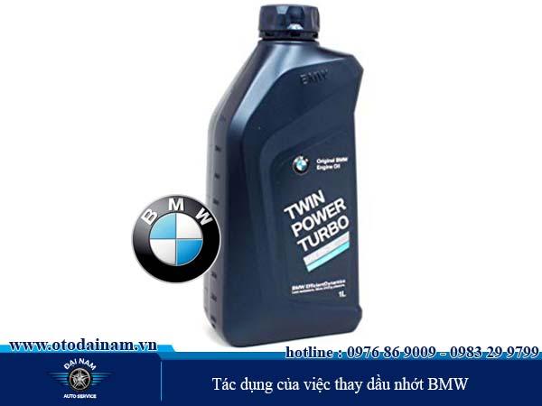 Tác dụng của việc thay dầu nhớt BMW