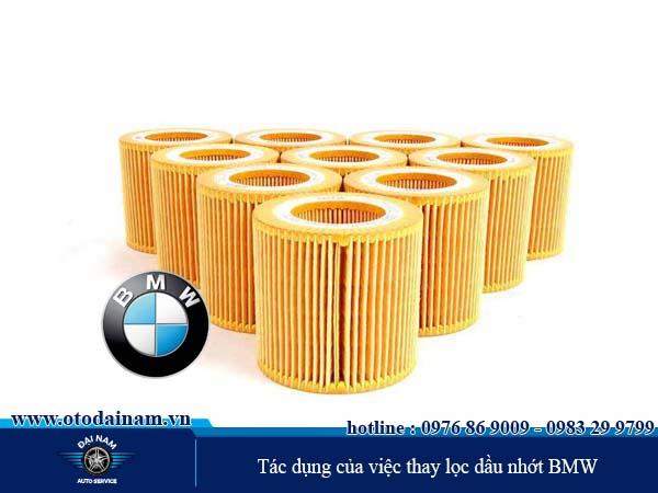 Tác dụng của việc thay lọc dầu nhớt BMW