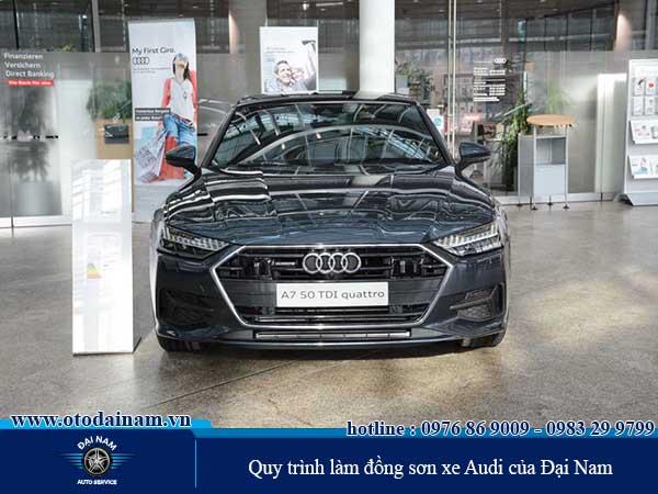 Quy trình Đồng sơn xe Audi chuyên nghiệp