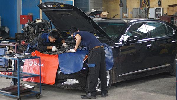 Bảo dưỡng xe Mercedes phần động cơ