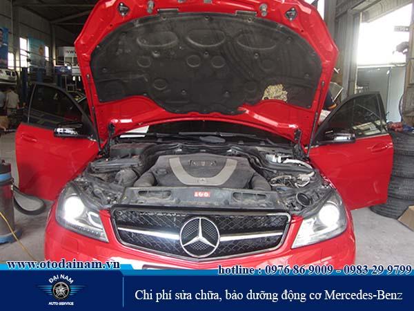 Chi phí sửa chữa, bảo dưỡng động cơ Mercedes-Benz
