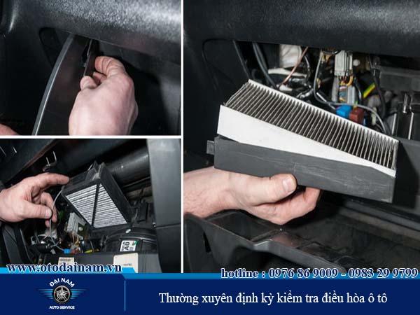 Vệ sinh điều hòa và sửa chữa những ban bệnh ở điều hòa ô tô