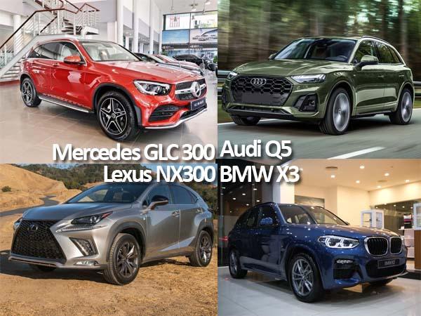 Mercedes GLC 300, BMW X3, Audi Q5 và Lexus NX300 - Lựa chọn xe nào?